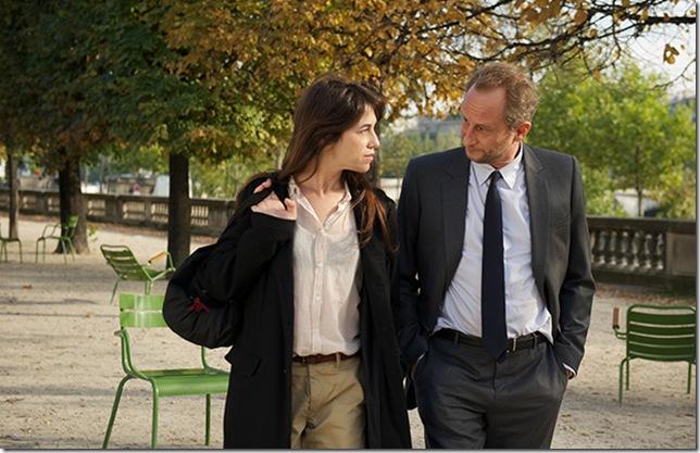 "Charlotte Gainsbourg and Benoît Poelvoorde in ""Three Hearts."""