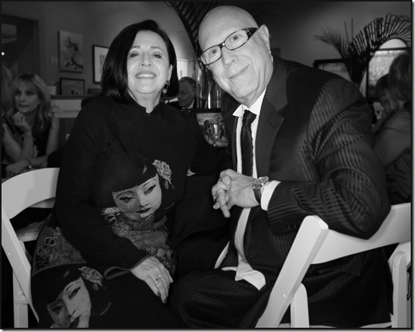 Elayne and Marvin Mordes at the Lighthouse ArtCenter in 2011. (Photo by Katie Deits)