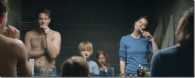 "Johannes Bah Kuhnke, Vincent Wettergren, Clara Wettergren and Lisa Loven Kongsli in ""Force Majeure."" (2014) (Photo courtesy Magnolia Pictures)"