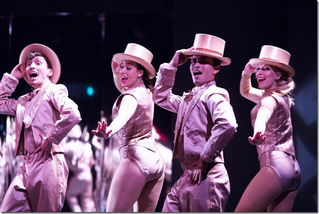 "The finale of ""A Chorus Line"" at Broward Stage Door Theater. (Photo by George Wentzler)"