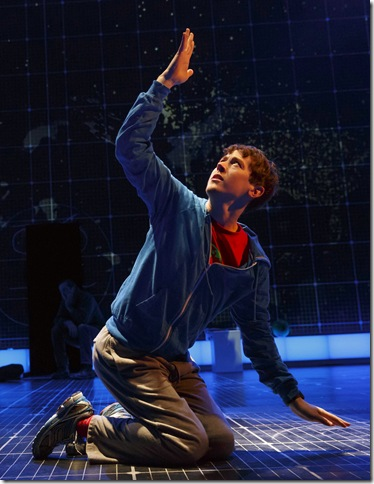 """Alex Sharp in """"The Curious Incident of the Dog in the Night-Time."""" (Photo by Joan Marcus)"""