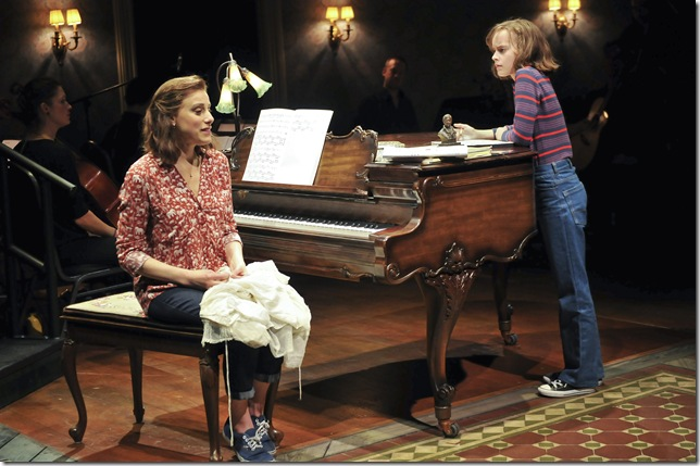 """Judy Kuhn and Sydney Lucas in """"Fun Home."""" (Photo by Jenny Anderson)"""