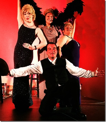 """Rear, from left, Stefanie Lamay, Stephanie Genovese and Christie Oliver; front, Gary Waldman; star in """"Sophie, Totie and Belle"""" at the Weisman Delray Community Center, Delray Beach."""