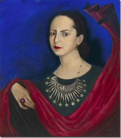 Helena Rubinstein in a Mexican Silver Necklace (1941), by Roberto Montenegro.