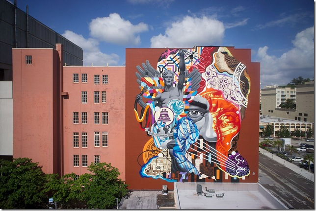 Bell Mural by Tristan Eaton at Alexander Lofts.