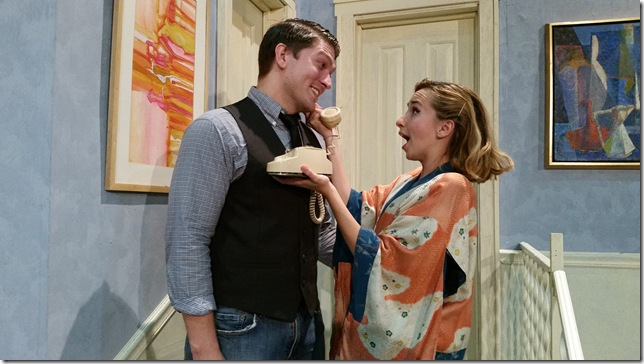 "Joshua Matheney and Krystal Millie Valdes star in ""Barefoot in the Park"" at the Delray Beach Playhouse. (Photo courtesy of Delray Beach Playhouse)"