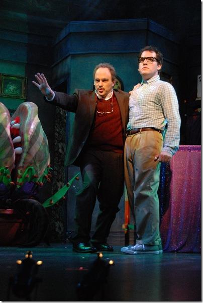 "Matthew Korinko and Mike Westrich in ""Little Shop of Horrors."" (Photo by Gemma Bramham)"