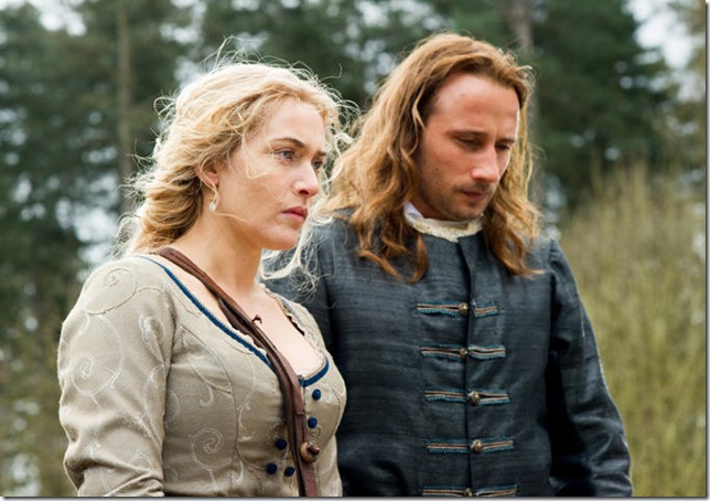 "Kate Winslet and Matthias Schoenaerts in ""A Little Chaos."""