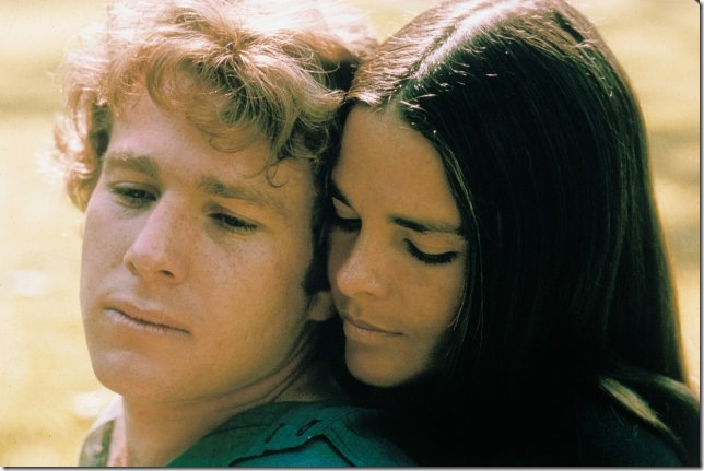 """Ryan O'Neal and Ali MacGraw in """"Love Story."""" (1970)"""