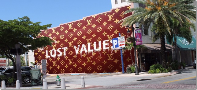 """""""Lost Values,"""" a mural by Kai."""
