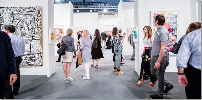 Crowds visit the 2014 version of Art Basel Miami Beach. (Photo courtesy Art Basel Miami Beach)