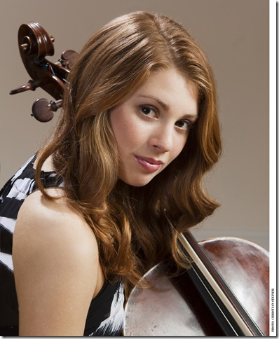 Cellist Cicely Parnas plays the Eissey Campus Theatre on March 24. (Photo by Christian Steiner)