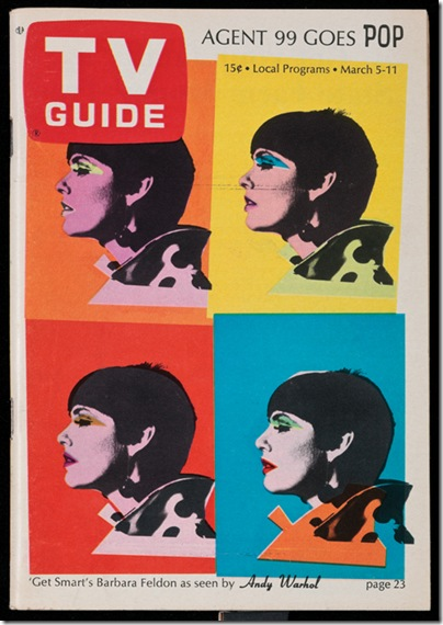 TV Guide cover (March 1966), by Andy Warhol, at
