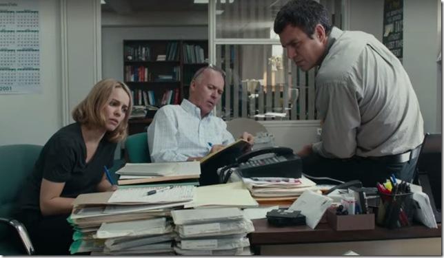"""Rachel McAdams, Michael Keaton and Mark Ruffalo in """"Spotlight."""""""