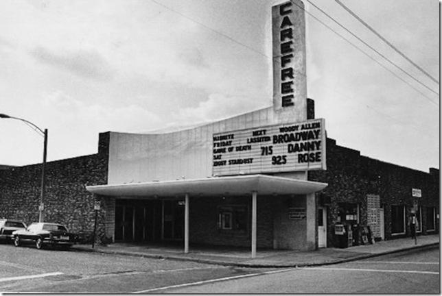 The Carefree Theatre, circa 1984.