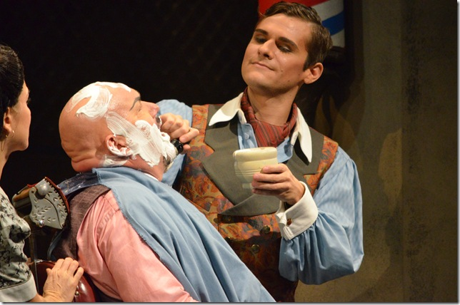 "Kevin Glavin and Brian James Myer in ""The Barber of Seville"" at Florida Grand Opera. (Photo by Brittany Mazzurco Muscato)"