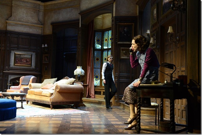 """Gail Rastorfer and Katherine Amadeo in """"The Mousetrap."""" (Photo by Alicia Donelan)"""