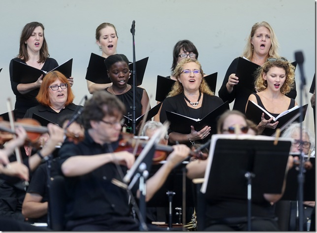 Members of the Palm Beach Opera Chorus and Orchestra.