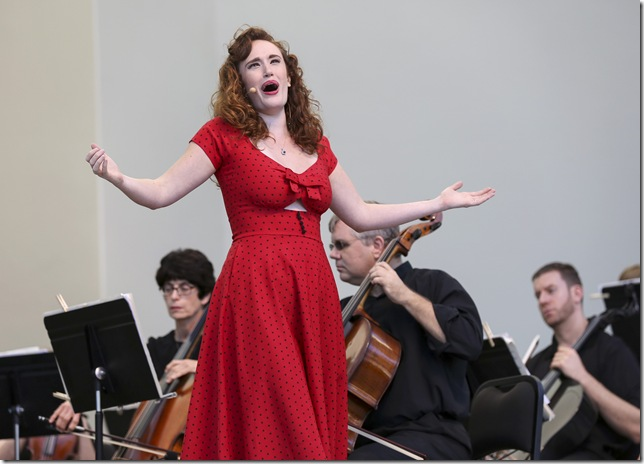 Bridgette Gan sings at the Palm Beach Opera waterfront concert.