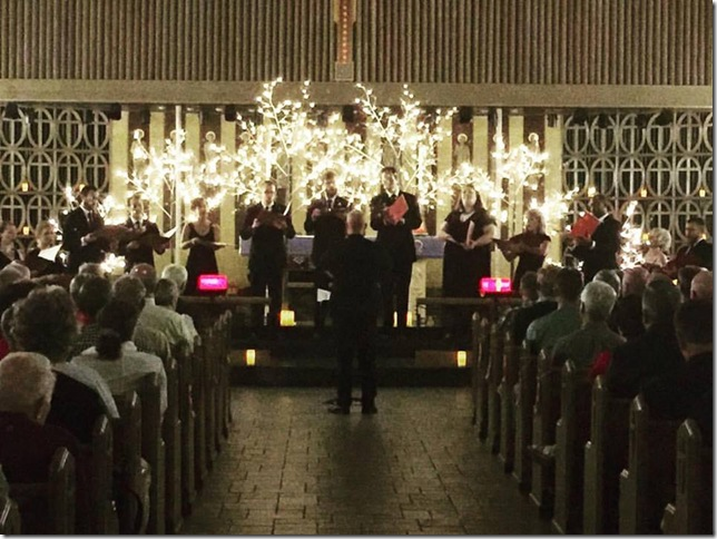 Seraphic Fire at All Saints Episcopal on Dec. 13. (From Facebook)