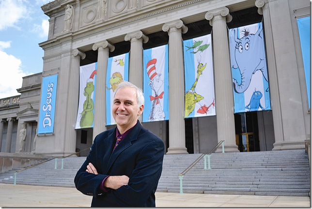 William Dreyer outside Chicago's Museum of Science and Industry during its Dr. Seuss exhibit.