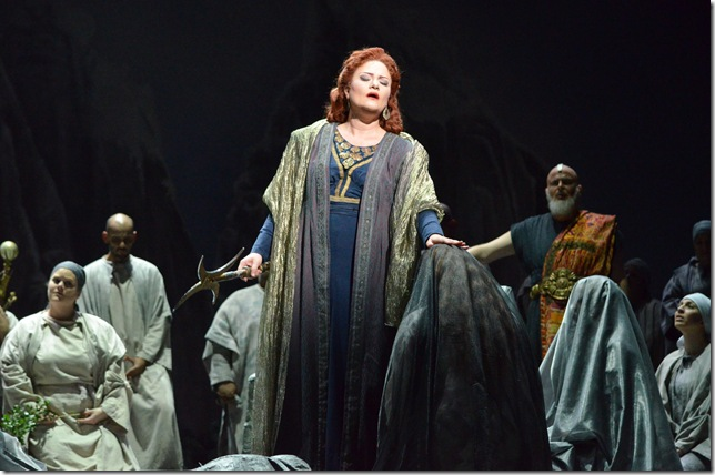 "Mlada Khudoley in ""Norma"" at Florida Grand Opera. (Photo by Brittany Mazzurco Muscato)"