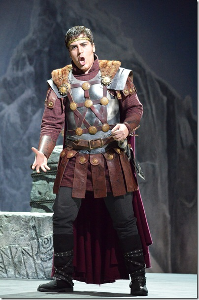 "Giancarlo Monsalve in ""Norma"" at Florida Grand Opera. (Photo by Brittany Mazzurco Muscato)"