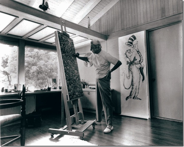 Theodor Geisel at his easel.
