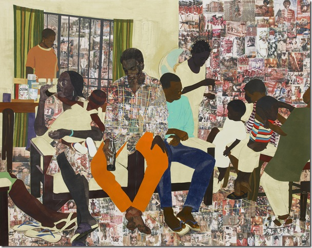 5 Umezebi St., New Haven, Enugu (2012) by Njideka Akunyili Crosby.