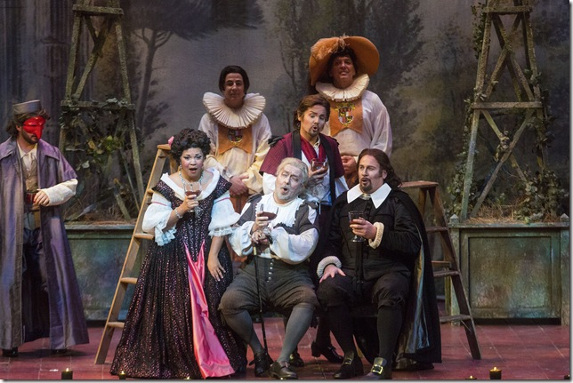 "Janai Brugger, Carlo Lepore, David Portillo and Lucas Meachem in ""Don Pasquale."""