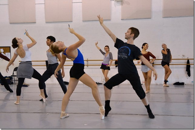 "Ballet Palm Beach dancers rehearse Colleen Smith's ""Gatsby."""