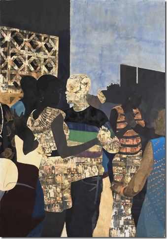 I Refuse to be Invisible (2010) by Njideka Akunyili Crosby.