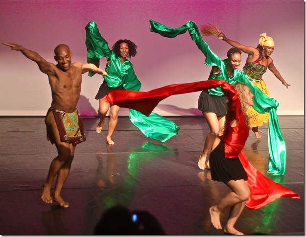 """A scene from """"Global Village,"""" choreographed by Lula Washington. (Photo by Eric McGinnis)"""