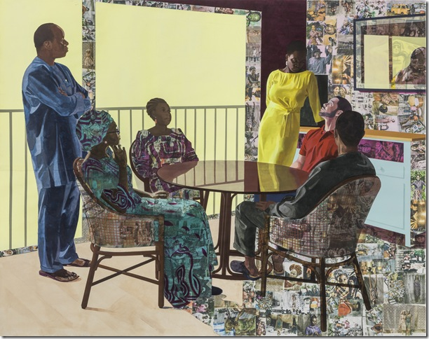 I Still Face You (2015) by Njideka Akunyili Crosby.