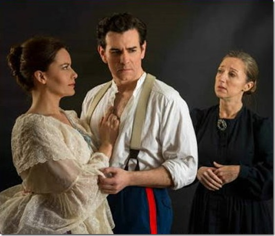 "Anna Lise Jensen, Nicholas Richberg and Jeni Hacker in ""Passion."""
