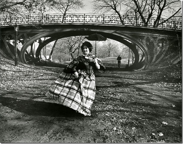 Gothic Bridge in Central Park (c. 1968-1979), by Bill Cunningham.