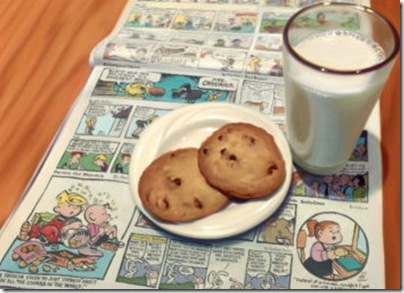 """""""Cookies and Milk,"""" by Doug Bloodworth."""