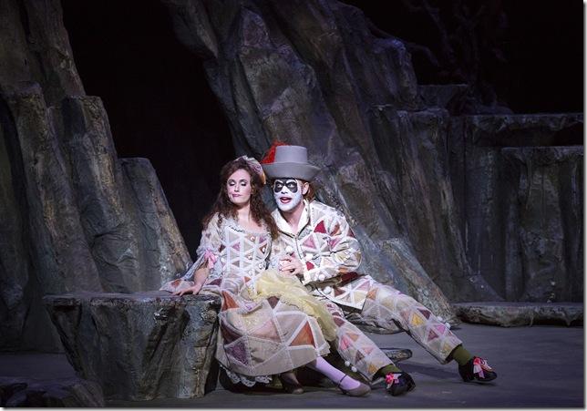 """idgette Gan and Kenneth Stavert in """"Ariadne auf Naxos."""""""