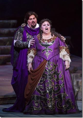 "Jeffrey Hartman and Amber Wagner in ""Ariadne auf Naxos."""