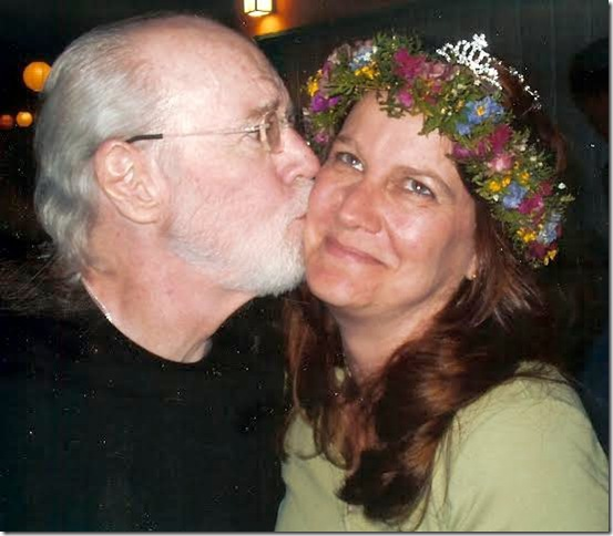 George Carlin and daughter Kelly.