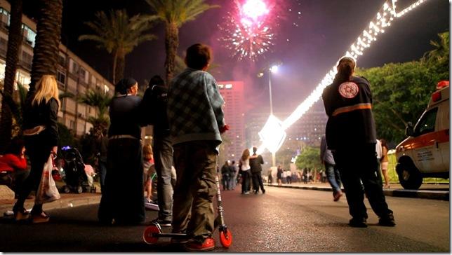 Independence Day in Tel Aviv, from Colliding Dreams.