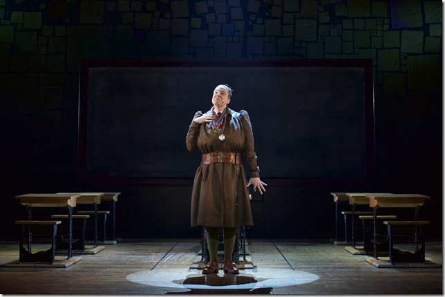 "David Abeles as Miss Trunchbull in ""Matilda."" (Photo by Brian Tietz)"