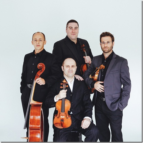 The Amernet String Quartet, clockwise from left: Jason Calloway, Michael Klotz, Tomas Cotik and Misha Vitenson.