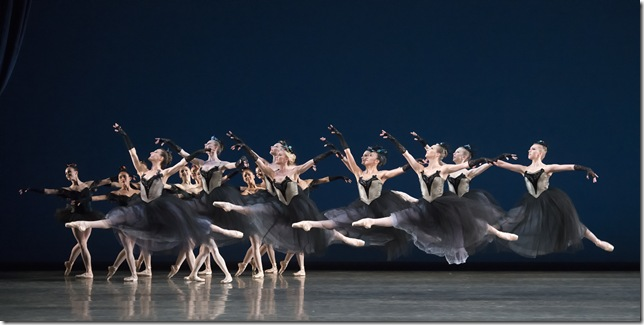 Miami City Ballet dancers in Bourrée Fantasque. (Photo by Gene Schiavone)