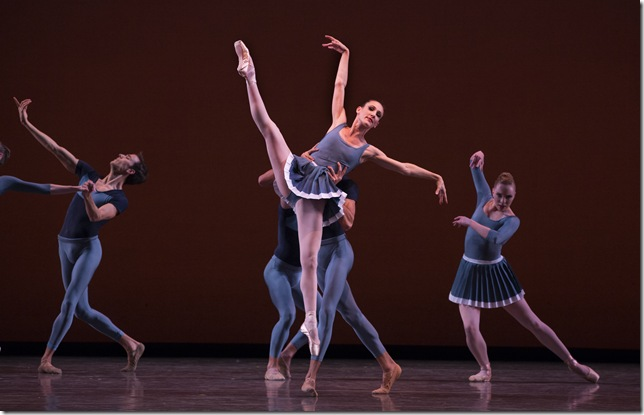 Tricia Albertson and Miami City Ballet dancers in Year of the Rabbit. (Photo by Daniel Azoulay)