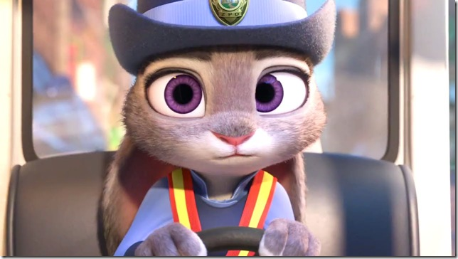 Ginnifer Goodwin voices Judy Hopps, rabbit cop, in Zootopia.