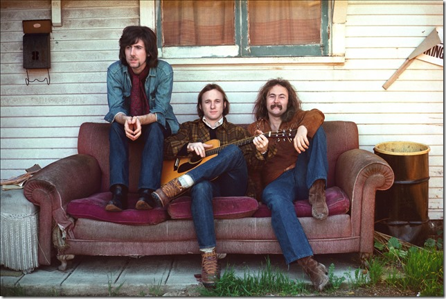 Graham Nash, Stephen Stills and David Crosby. (Photo by Henry Diltz)