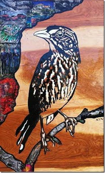 Dusky Seaside Sparrow, by Agata Ren.