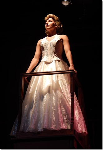 "Jenna Pastuszek as Eva Perón in ""Evita"" now playing at the Broward Stage Door Theater. (Photo by George Wentzler)"