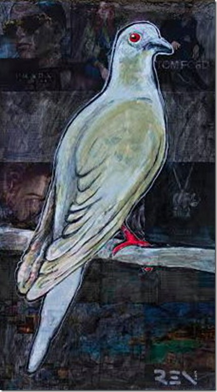 Martha, the Last Passenger Pigeon, by Agata Ren.